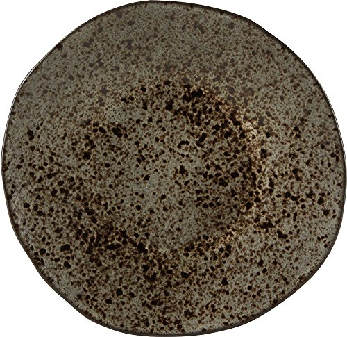 Rustico C53335 Black Ironstone Plate, 21 cm (Pack of 6)
