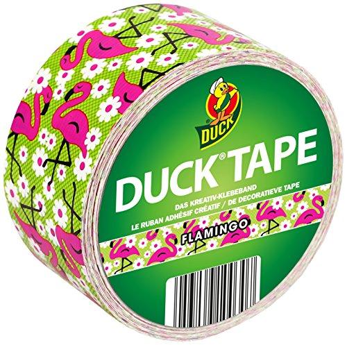Duck Tape Klebeband mit Flamingos in Pink 48 mm x 9,1 m Geweband zum Basteln, Verpacken und Verschönern
