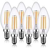 Ampoule Led E14 Dimmable Blanc Chaud Lot de 6 Ampoule Led Filament Décorative Style Bougie Vintage Rétro Industriel Antique E