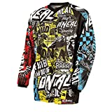 O'Neal Element Kinder Jersey WILD Multi Kids Trikot MX DH Enduro Quad Fahrrad Protektor, 0025W-9, Größe Medium