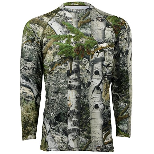 Long Sleeve Tight Crew Shirt (Mossy Oak Herren Camo Long Sleeve Performance Tech Tee Hunting Shirt Langärmelig, Mountain Country, X-Large)
