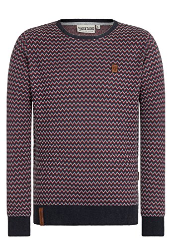 Naketano Male Knit Junge Doff II Dark Blue Melange