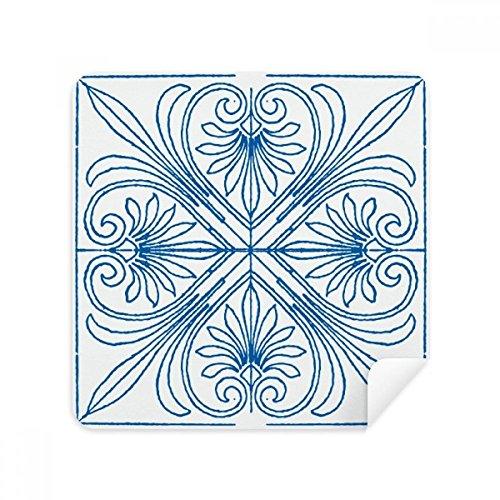 Talavera (Style Blau Dekorative Muster Gläsern Reinigungstuch Handy-Display von Wildleder Stoff 2 - Blau Dekorative Glas