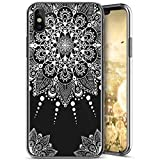 Custodia iPhone X, Cover iPhone 10 Mandala Silicone, SainCat Cover per iPhone X/iPhone 10 Custodia Silicone Morbido, Shock-Absorption Custodia Ultra Slim Transparent Silicone Case Ultra Sottile Morbida Gel Cover Case Custodia Protettiva Crystal Clear Cover Gomma Case Caso Trasparente Ultra Thin Slim Protettiva Anti-scratch Skin Cover Shell Coperture Bumper Cover per iPhone X/iPhone 10-Mandala#2