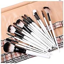 G&M 20 enrejado pelo natural maquillaje profesional cepillo cosméticos pinceles set