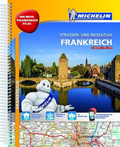 Michelin Straßenatlas Frankreich mit Spiralbindung: DIN A4, Auflage 2017 (MICHELIN Atlanten) (In Frankreich)