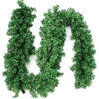 270cm x 25cm Plain Green Christmas Garland Decoration 9ft Undecorated Xmas Green Pine Garland (1pcs)