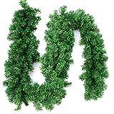 270cm x 25cm Plain Green Christmas Garland Decoration 9ft Undecorated Xmas Green Pine Garland