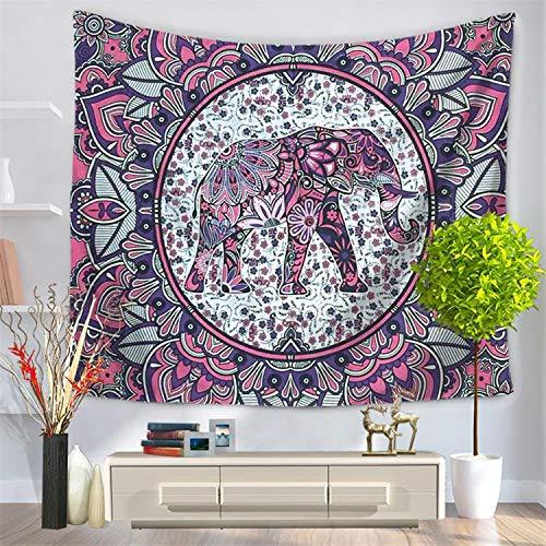 andala-Bunte Elefant Bedruckte Tapisserie-Wand-hängende Strand-Wurfmatte Hippie-Bettdecke-Yoga-Matten-Decke, 150cmx130cm, O25 ()
