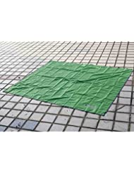 eflio (TM) BLUEFIELD 180* 220cm al aire libre playa jardín de Picnic hierba manta Camping senderismo dormir Mat Pad Cojín Colchón, verde