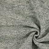 Kochwolle Klassik Hellgrau — Meterware ab 0,5m — Zum Nähen von Herbst- und Winterbekleidung, Mänteln und Jacken und Mänteln