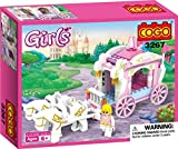 #7: Saffire Girls Princess Horse Carriage Building Block Set, Multi Color