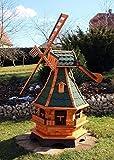 GRANDE mulini a vento, Mulino a vento legno con windschwert TIPO 18.1 e illuminazione solare - verde, Grande
