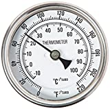 1/2 NPT Dial Thermometer Weldless Kit Homebrew Mash by Shinehone