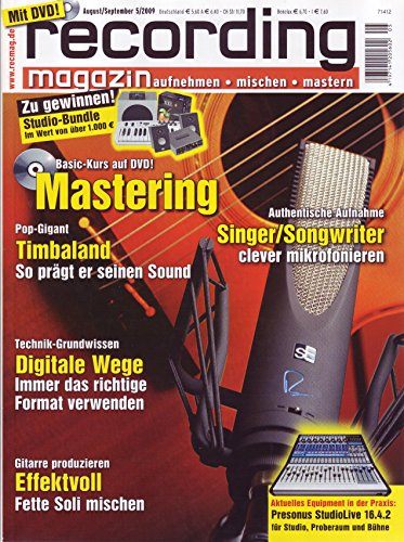 Recording Magazin 5 2009 mit DVD - Mastering Basic Kurs auf DVD - Gitarre Soli mischen - aufnehmen - mischen - mastern