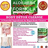 #1 Rapid Body DETOX & COLON CLEANSE For Women and Men. With 14 Powerful ingredients Formula to flush out Toxins, Impurities and waste in no time. Aloe Vera & Cranberry Extract. Advanced cleansing formula. Safe and Natural Detox & Colon Cleanse. Perfect Body Detox Blend For Cleansing and Detoxifying  With Aloe Vera, Cranberry Extract,Psyllium Husk, Probiotics, Inulin etc.. Made in UK.