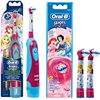 SPAR-SET: Oral-B 1 Braun Stages Power Kids batería-Zahnbürste CLS Kinder DB4.510.K Disney Princess Cinderella.