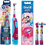 SPAR-SET: 1 Braun Oral-B Stages Power Kids cls Batterie-Zahnbürste Kinder DB4.510.K Disney Prinzessin Cinderella + 2er Stages Power Aufsteckbürsten Princess