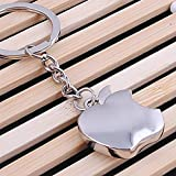#4: 'Apple' Logo Metal Keychain (Small Size)