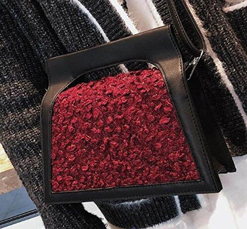 PU Handtaschen Mode Casual Handtaschen Persönlichkeit Wild Schulter Messenger Bag Gezeiten Red