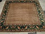 afghanischen Gabbeh Beige Tan neuen quadratisch-Bereich Teppich Wolle handgeknotet Teppich (6,9x 6,7) '