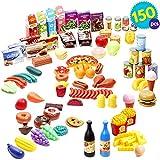 THE TWIDDLERS 150 Pezzi Cibo Finto Accessori Cucina Giocattolo | Plastica Frutta e Verdura Giocattolo | Giocattoli Regalo di Natale | Alimenti Giocattolo per Bambini Giocattoli Formativi