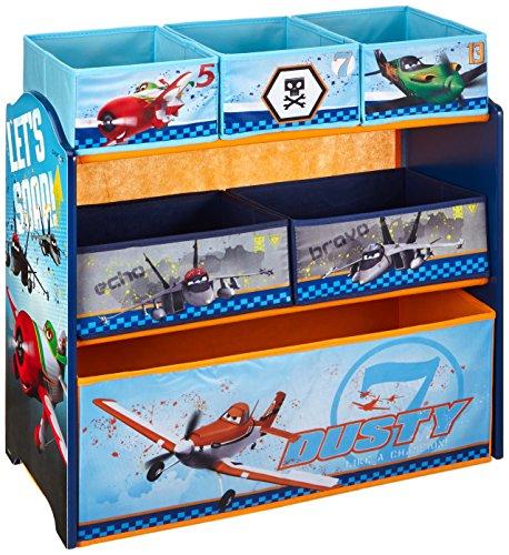 Delta TB 84898 Planes Multi Bin Ablage Regal circa 63 x 40 x 33 cm, MDF und Canvas