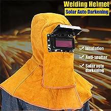 Solar Auto Darkening Filtro Soldador de Lente Cuero Capucha Soldadura Casco Máscara 1PC Cómodo Auto-