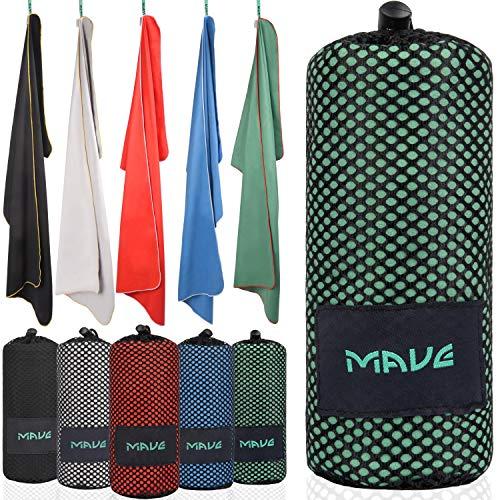 MAVE® Microfaser Reisehandtuch - Schnelltrocknendes und ultraleichtes Mikrofaser Handtuch - Ideal für Deine nächste Reise an den Strand oder Backpacking Tour [in Allen Größen]
