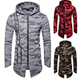 Sweats à Capuche Hommes Hooded Camouflage Zippé Manteau Veste Cardigan Manches Longues Blouse