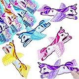 German Trendseller - 12 x planeurs de licorne┃objets volants┃l'arc en ciel ┃décoration chambre d'enfants┃ petit cadeau┃ l'anniversaire d'enfant┃idée cadeau┃ bricoler et flotter