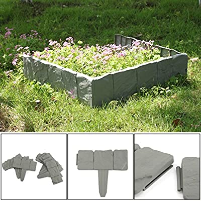 AllRight 10tlg. Beeteinfassung Beetumrandung Rasenkante Mähkante Palisade Garten Beet von oem bei Du und dein Garten