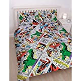Marvel Comics 'Retro' Double Bettbezug Set–Repeat Print Design
