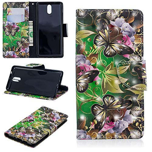 Cozy Hut Nokia 3 2018 / Nokia 3.1 Hülle, PU Leder Tasche aus Kunstleder Wallet Case - Schutzhülle [Standfunktion] [Magnetverschluss] [Kartenfächer] Flip Cover - Bookstyle Handy Flip Case Brieftasc