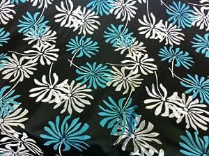 Noir & Bleu Turquoise Très Rideau d'ameublement Tissu brocart Prestige Fashion Tissu 2