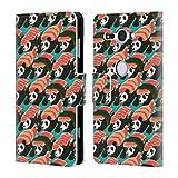 Head Case Designs Offizielle Tobe Fonseca Sushi Panda Muster Brieftasche Handyhülle aus Leder für Sony Xperia XZ2 Compact