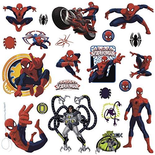 RoomMates RMK1795SCS RM - Marvel's Spider - Man Wandtattoo, PVC, Bunt, 29 x 13 cm Super Mario World-aufkleber
