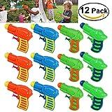 TOYMYTOY 12pcs Pistolets à Eau en plastique pour les jeux d'enfants plein air (couleur aléatoire)