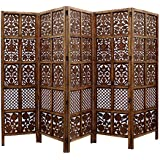 Artesia Handcrafted 5 Panel Premium Quality White Wooden Room Partition/Wooden Room Divider