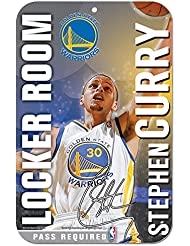 NBA Golden State Warriors 92801013Plastique Sign, 27,9x 43,2cm, Noir