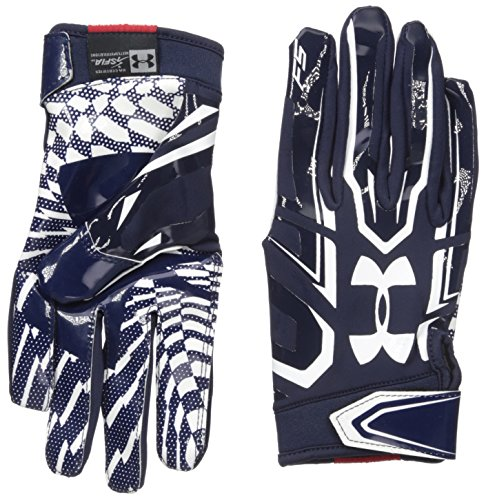 Under Armour F5 American Football Receiver Handschuhe - Navy Gr. XL