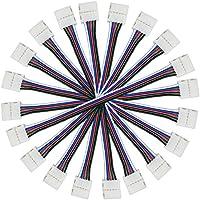 Liwinting 10 pcs 5 pin Cable de conector para 10 mm de ancho SMD 5050 RGBW RGBWW LED tira de luz, adaptador de esquina de conector para conectar 2 tiras de LED (10pcs/pack)