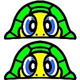 Pegatinas de Valentino Rossi para mirar a la tortuga (2 unidades, 37 x 20 mm)