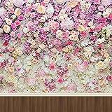 Rosa Blumen Weiß Creme Rosen Wand Wedding Photography Hintergrund Holz Floor Digital Printed Kinder Kids Studio Foto Shoot Hintergrund 10x Ladekabel