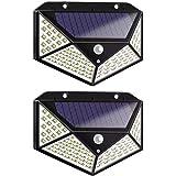 2 PCS 100 LED Solar Light PIR Motion Sensor Outdoor Solar Lamp IP65 Waterproof Wall Light Solar Sunlight