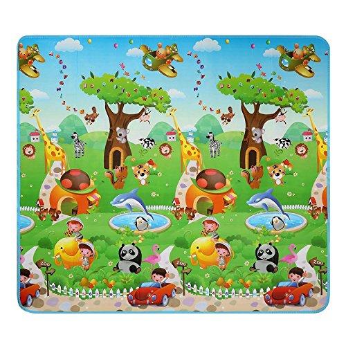 Lovelybaby - Tappetino da gioco per bebè, plaid in schiuma, double face, ideale per interno ed esterno, 200 cmx 180 cm Set05