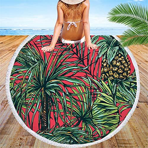 BBQBQ Telo Mare Telo da Spiaggia Serie Multifunzionale Telo Mare in Microfibra può Fare Scialle Asciugamano Rosso 150 * 150cm