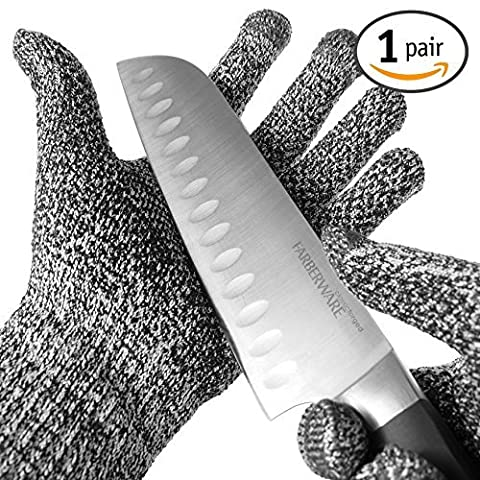 TYH Supplies Cut Resistant Safety Gloves High Performance Level 5 Protection EN388 Food Grade, Cutting & slicing Hand protection Kitchen Glove, Strong Silicone Grip Dots, Capacitive Touch Finger Tips by TYH