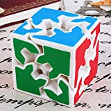 Wings of wind Gear Cube 2x2x2 New Type Magic Cube, Speed Gear Cube Educación Puzzle Cube (Blanco)