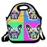 French Bulldog pop art, borsa termica per il pranzo picnic pranzo borsa per lavoro, picnic, in viaggio